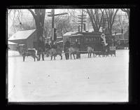 Santa Claus and his reindeer, Portland, 1926