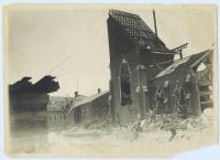 Demolition of first St. Peter's Church, Lewiston, 1905