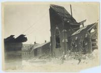 Demolition of first St. Peter's Church, Lewiston, 1905