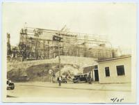 New church under construction, Lewiston, 1935