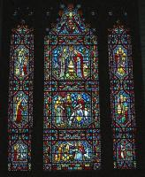 Stained glass window, Sts. Peter and Paul Church, Lewiston