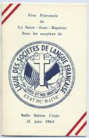 Program, Saint Jean Baptiste day, 1964