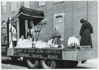 St. John's Day parade float, Lewiston, 1965