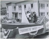St-Jean-Baptiste float, Lewiston, 1959