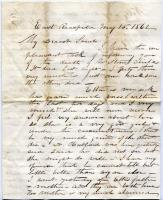 Peter F. Sanborn letter concerning diphtheria deaths, 1862