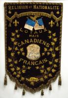 Jacques Cartier banner, Lewisston, ca. 1900