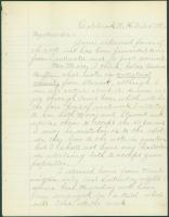 Letter to Horatio Jose, Portland, from Ossian Ray, 1886