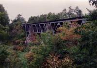 Bangor and Aroostook Railroad trestle bridge, Aroostook County, c. 1990