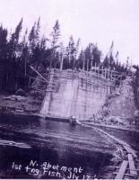 Bridge abutment, Fish River Railroad, 1902