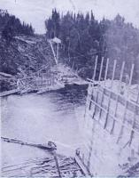 Fish River Railroad bridge construction, ca. 1902