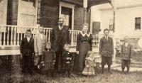 Carl J. Peterson family, New Sweden, ca. 1922