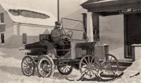Olof Anderson's mail wagon, New Sweden, ca. 1922