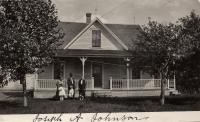 Joseph A. Johnson home and family, New Sweden, ca. 1922
