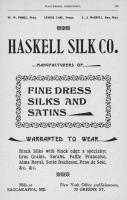 Haskell Silk Company advertisement, 1897