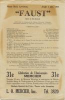 Program, 'Faust,' Lewiston, 1930