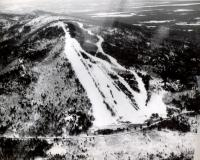Aerial view of Pleasant Mountain ski trails