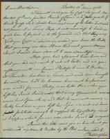 Theodore Barrell letter on shipping interests, 1783