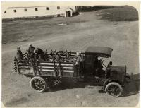 Forest truck with equipment, ca. 1920