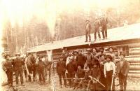 Woods camp, Aroostook County, ca. 1890