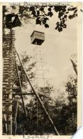 Old and new fire lookout towers, Depot Mountain, ca. 1920