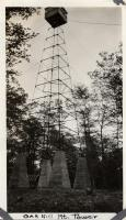 Oak Hill Mountain fire lookout tower, ca. 1924
