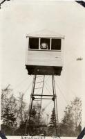 Fire lookout tower, Soubunge Mountain, ca. 1920