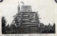 Forest Service lookout, Soper Mountain, ca. 1920