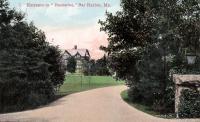 Entrance to Hauterive, Bar Harbor, ca. 1899