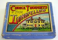 Choice Thoughts from Longfellow board game, 1890
