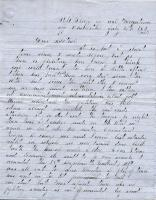 John M. Dillingham letter to mother, July 21, 1863
