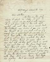 John M. Dillingham to mother, March 1, 1863
