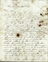 Letter written by Capt. John G. Dillingham to his wife Margaret, November 21, 1861