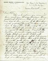 John G. Dillingham letter to his wife, October 20, 1861