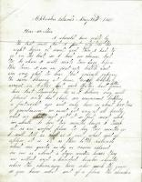 Letter written by John M. Dillingham to his mother Margaret, May 24, 1861