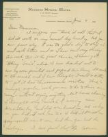 Edward Winslow letter to mother, ca. 1902