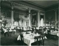 Dining room, Falmouth Hotel, Portland, ca. 1900