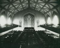 Interior, State Street Church, Portland, ca. 1900