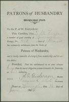 Grange withdrawal card, Harrington, 1912