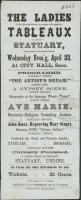 Ladies Tableaux playbill, Saco, ca. 1860