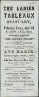 Ladies Tableaux playbill, Saco, ca. 1860