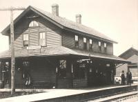 Bangor and Aroostook Railroad Station, Stockholm, ca. 1935