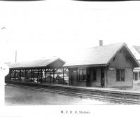 Railroad Station, Danforth, ca. 1950