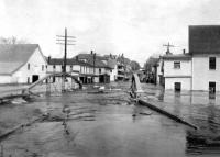 Danforth Bridge during 1923 flood