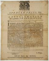 Public thanksgiving proclamation, 1755