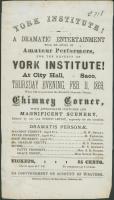 Dramatic entertainment flyer, York, 1869