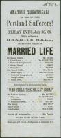 Amateur Theatricals flyer, Portland, 1866