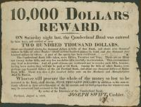 Reward broadside, Portland, 1818