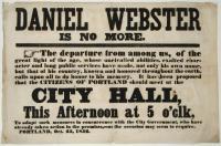 Notice of Daniel Webster death, Portland, 1852