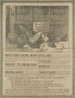 Anti-alcohol broadside, ca. 1890