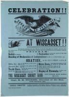 Fourth of July celebration notice, Wiscasset, 1870